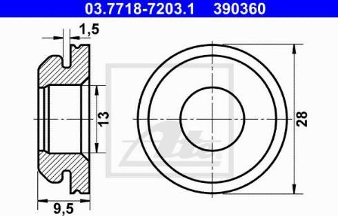 ATE 03.7718-7203.1 - Прокладка, вакуумный соединитель BKV www.biturbo.by