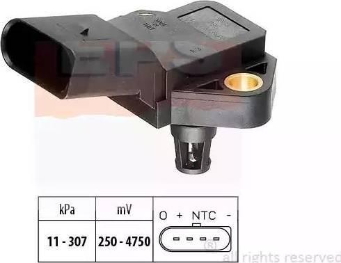 EPS 1.993.075 - Датчик, давление выхлопных газов www.biturbo.by