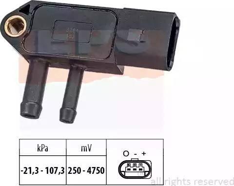 EPS 1.993.266 - Датчик, давление выхлопных газов www.biturbo.by