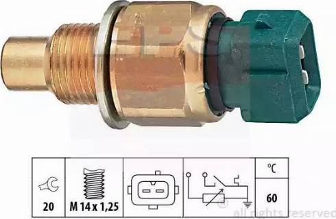 EPS 1.830.560 - Датчик, температура охлаждающей жидкости www.biturbo.by