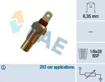 FAE 31570 - Датчик, температура охлаждающей жидкости www.biturbo.by