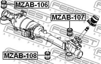 Febest MZAB-108 - Подвеска, рулевое управление www.biturbo.by
