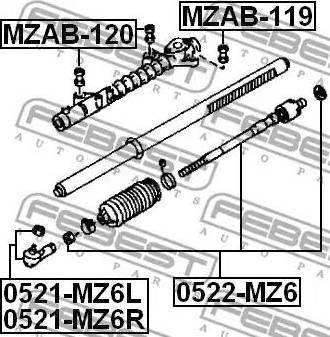 Febest MZAB-120 - Подвеска, рулевое управление www.biturbo.by