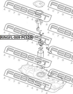 Febest RINGFL-009-PCS10 - Прокладка, датчик уровня топлива www.biturbo.by