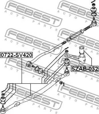 Febest SZAB-032 - Втулка, вал рулевого колеса www.biturbo.by