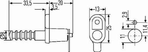 HELLA 6ZF 007 239-001 - Выключатель, контакт двери www.biturbo.by