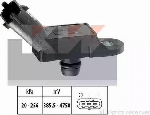 KW 493055 - Датчик, давление выхлопных газов www.biturbo.by