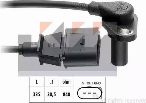 KW 453 220 - Датчик частоты вращения, автоматическая коробка передач www.biturbo.by