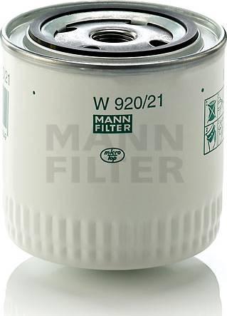 Mann-Filter W 920/21 (10) - Фильтр, Гидравлическая система привода рабочего оборудования www.biturbo.by