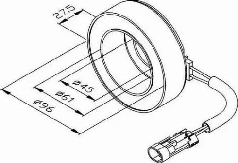 NRF 38470 - Катушка, электромагнитное сцепление - компрессор www.biturbo.by