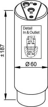 NRF 33327 - Осушитель, кондиционер www.biturbo.by