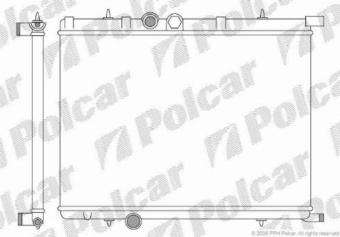 Polcar 232708-1 - Радиатор, охлаждение двигателя www.biturbo.by