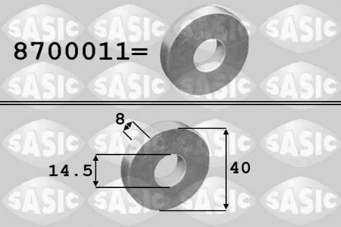 Sasic 8700011 - Плоская шайба, ременный шкив - коленчатый вал www.biturbo.by