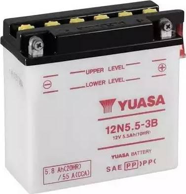 Yuasa 12N553B - Стартерная аккумуляторная батарея, АКБ www.biturbo.by